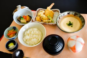 麦とろ天ぷら御膳